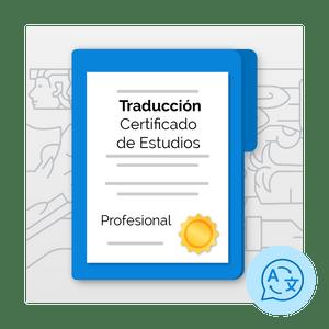 Traducción de Certificado de Estudios de Profesional (inglés)