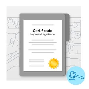 Certificado Impreso Legalizado